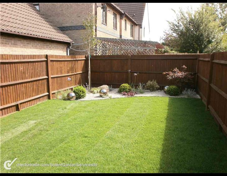 New Garden Fencing and Lawn Turfing