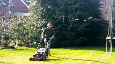 Lawn mowing prior to weed control treatment