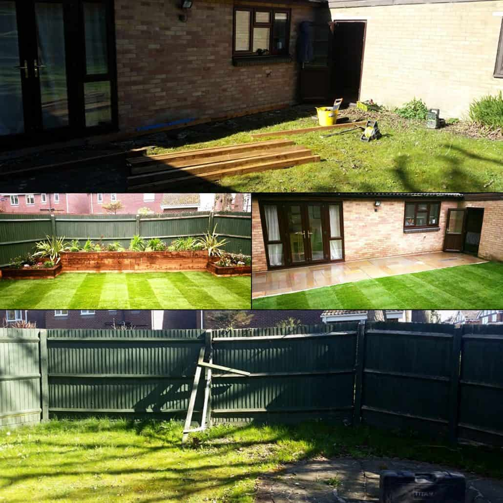 Garden Design and Landscaping Southampton Job Before & After Pictures