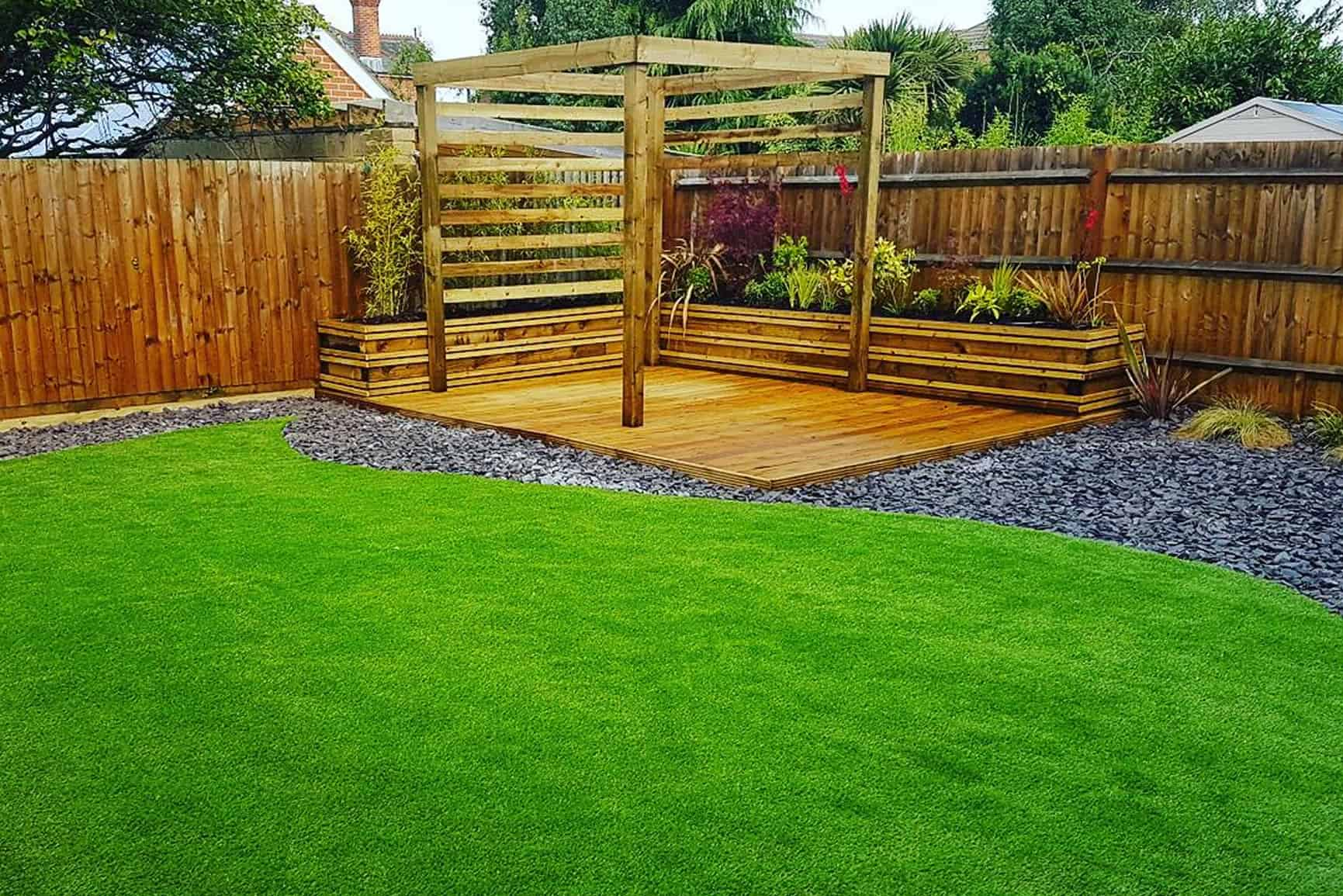 Solent garden services landscaping gardeners decking for Garden design services