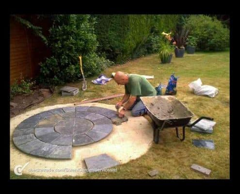 Stone Paving Feature During