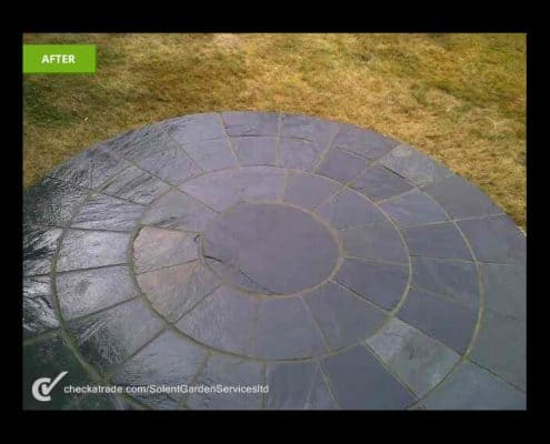 Stone Paving Feature After