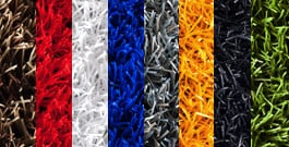 Artificial grass colour options