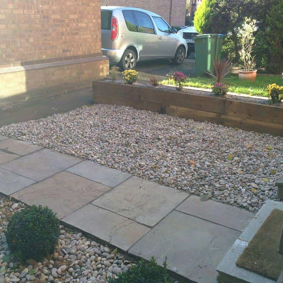 Aureum Front Garden After