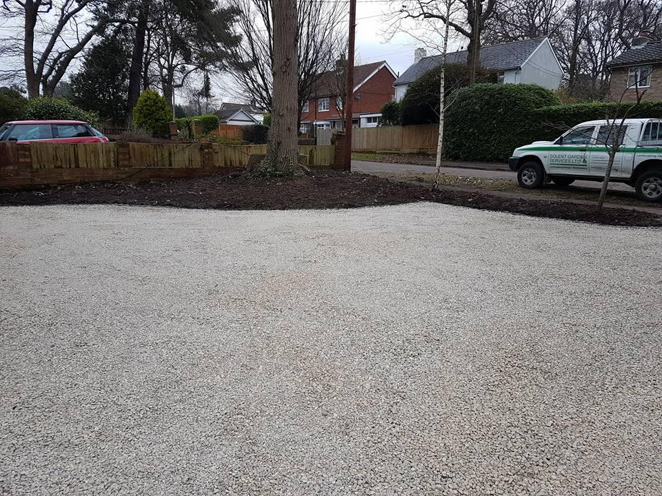 Limestone Chippings Driveway