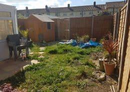 Our Gosport garden before any landscaping design work