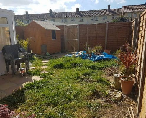 Our Gosport garden before any landscaping design work