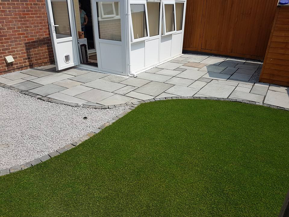 The finished Gosport garden design project