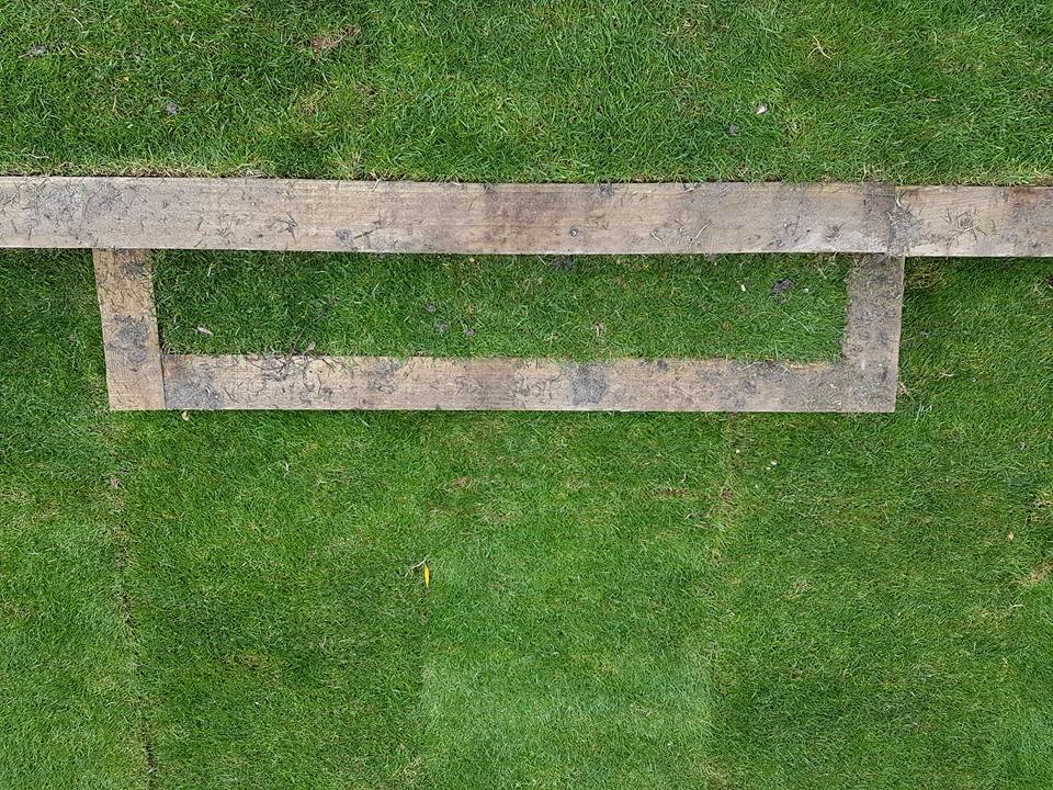 Natural Turf Timber Step