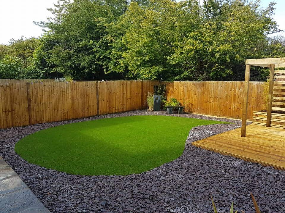 Curved Artificial Grass Laid
