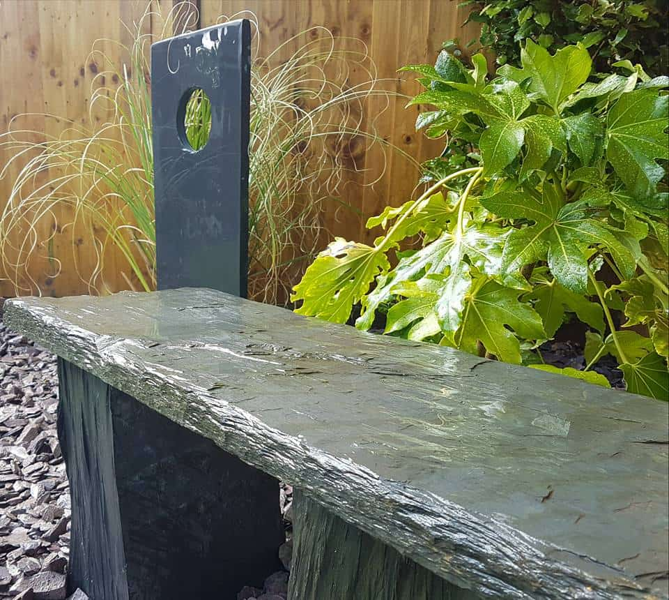 Slate Bench & Sculpture Features
