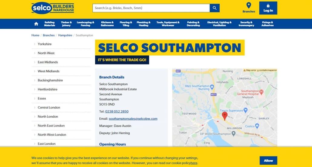 Selco Builders Warehouse Southampton