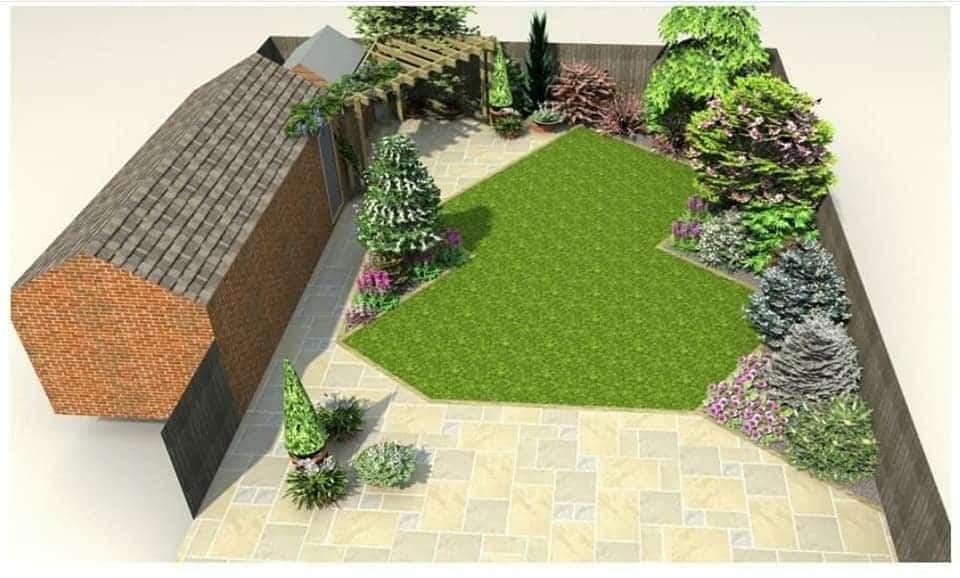 Small Garden Design CGI