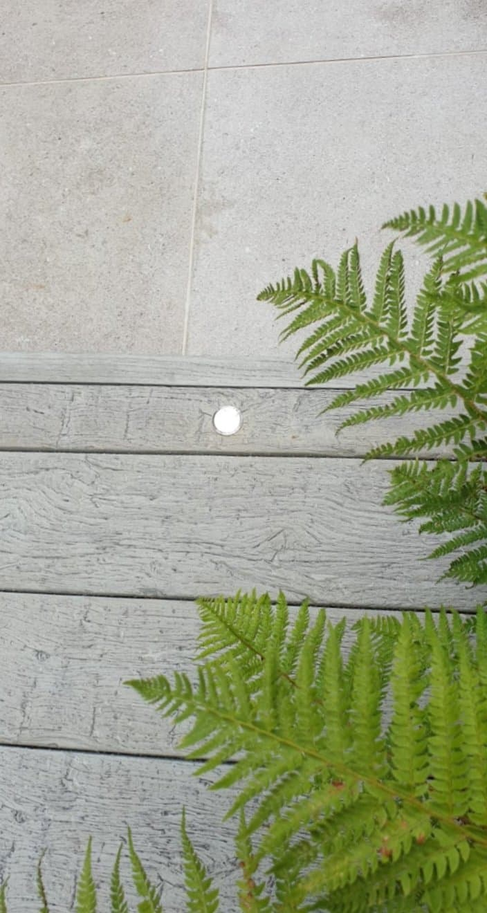 Millboard garden decking with led light