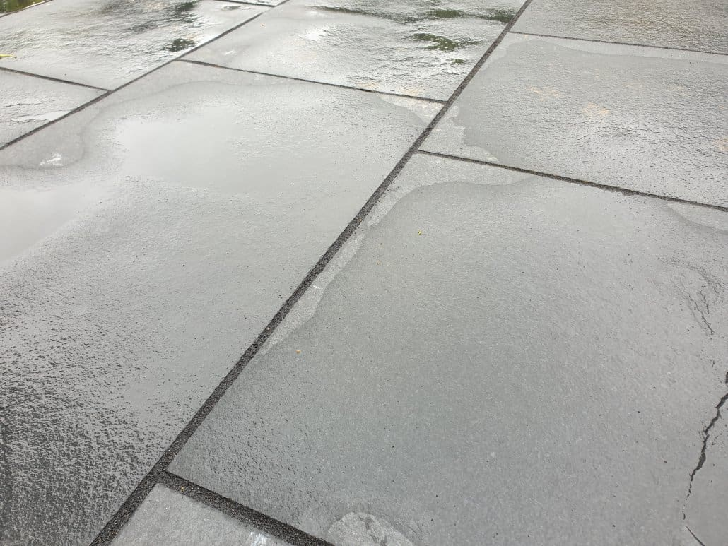 Stone Patio Grouting
